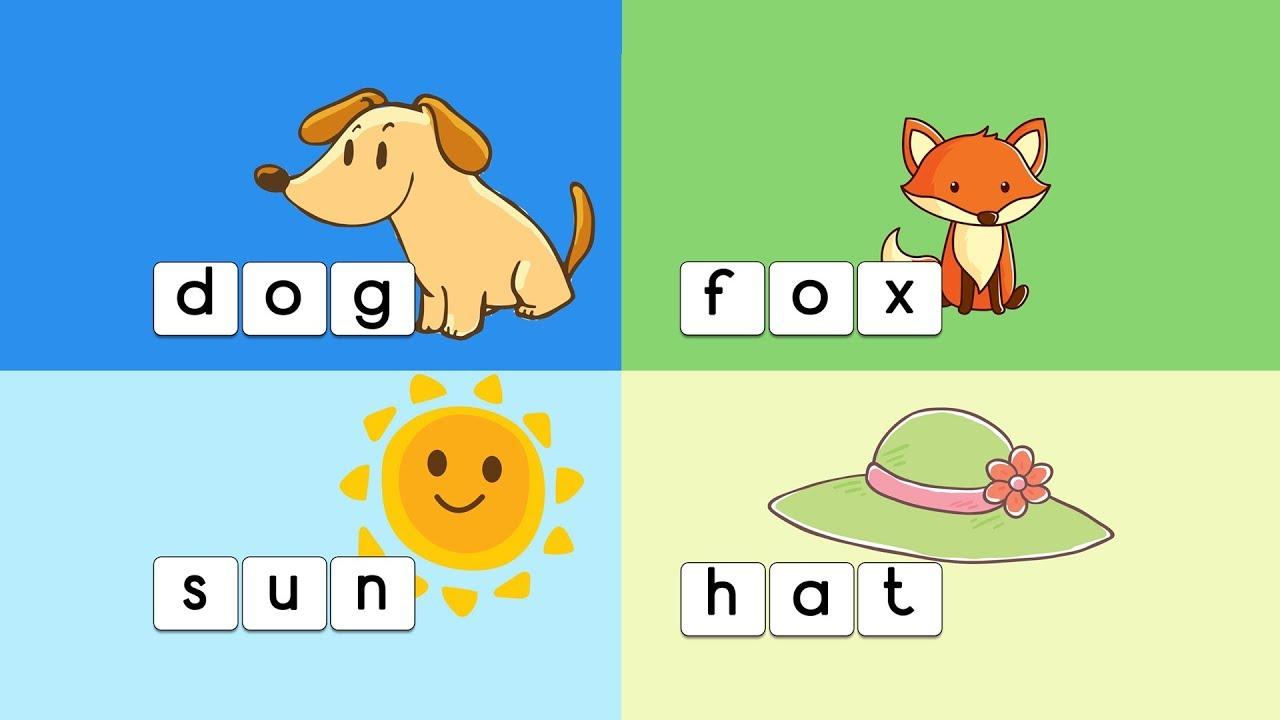 learn to spell 3 letter words - kids vocabulary (kindergarten
