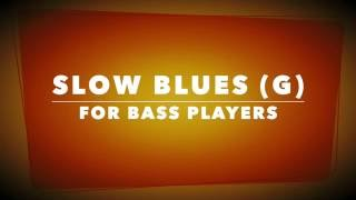 BASS Backing Track - Slow Blues in G