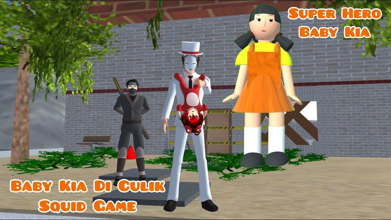 Super Hero Baby Kia | Baby Kia Di Culik Squid Game | Drama Sakura School Simulator