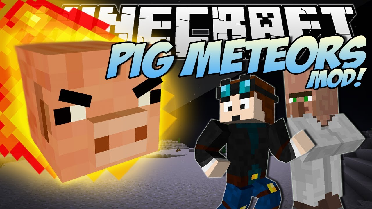Minecraft   PIG METEORS MOD! (Giant Pigs Destroy the City!)   Mod Showcase