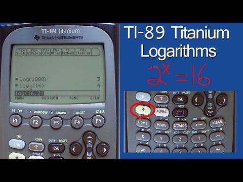 Any Base Logarithms On The Ti89 Anium Calculator