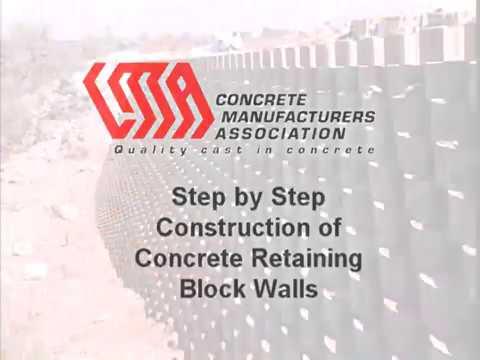 Concrete Retaining Block Walls