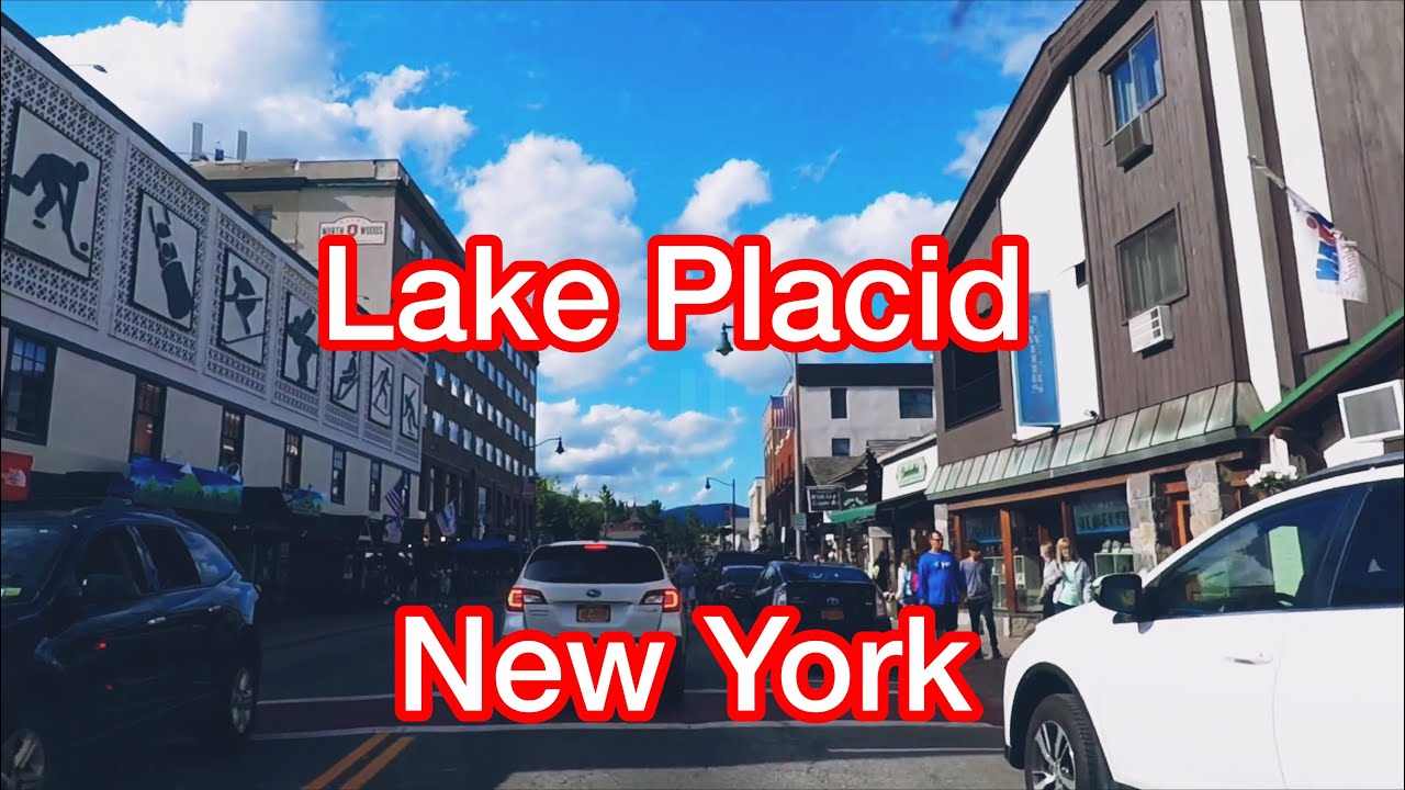 Driving  Main Street, Lake placid, New York (2019) (CC) 紐約普萊西德湖