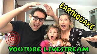 LIVE ON YOUTUBE EARTHQUAKE WHILE LIVE STREAMING