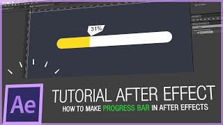 After Effects Tutorial - How to make progress bar in after effects - HD -