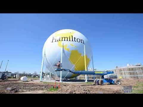 Hamilton's painted globe