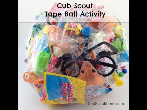 Cub Scout Game:  The Tape Ball