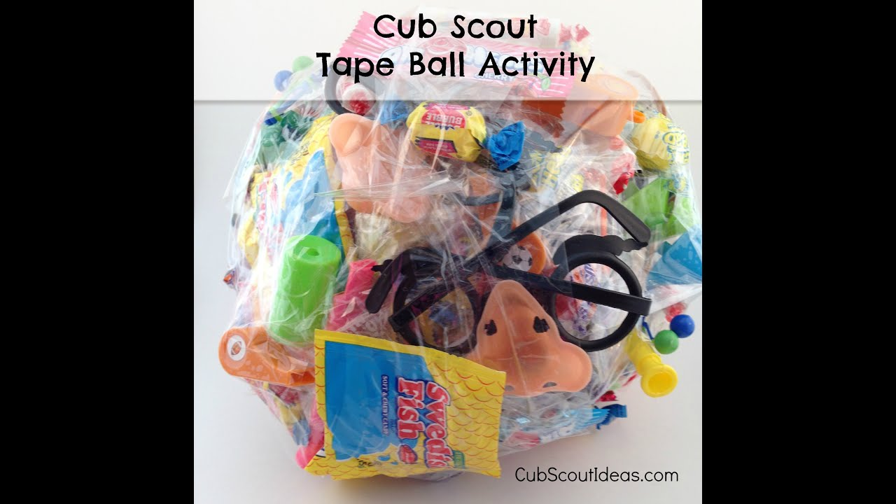 Cub Scout Christmas Party Ideas Part - 32: Cub Scout Game: The Tape Ball