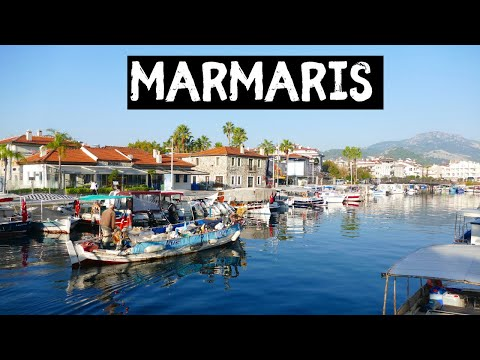 Turkish FOOD MARKET in MARMARIS Turkey | Walking tour of Marmaris Muğla Türkiye
