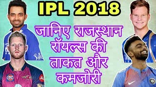 IPL 2018: Rajasthan Royals STRENGTH & WEAKNESS For IPL 2018 |