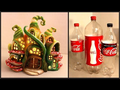❣DIY Enchanted Fairy House Lamp Using Coke Plastic Bottles❣