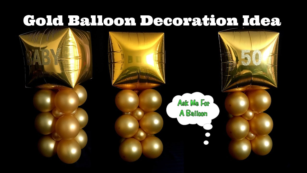 Gold Balloon Decoration Idea
