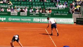 Andy Murray vs Gilles Muller COURT LEVEL 2017 Monte Carlo Rolex Masters