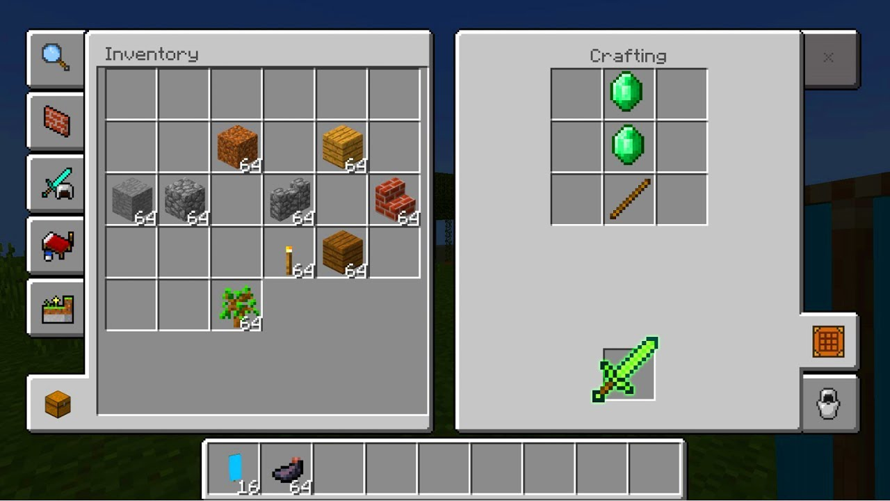 New Crafting Table In Minecraft Pocket Edition 1 2 New Ui Youtube