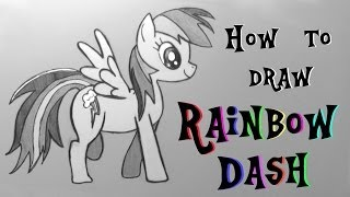"Ep. 147 How to draw Rainbow Dash from My Little Pony + ""The Pet Collective"" youtube channel"