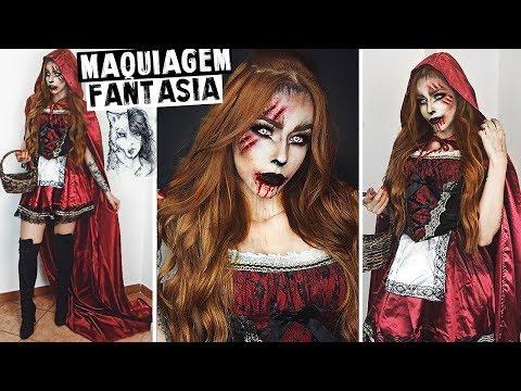 Chapeuzinho Vermelho Lobo Mau Maquiagem Halloween Youtube