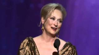 Repeat youtube video Meryl Streep Wins Best Actress: 2012 Oscars