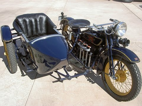 1928 Henderson DeLuxe and Goulding Sidecar For Sale