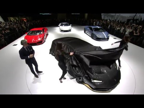 Lamborghini Press Conference Geneva Salon 2016 with Stephan Winkelmann Centenario premiere