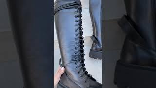 Сапоги демисезонные женские кожаные черные с петелькой на заднике 5967 Цена 104 у е