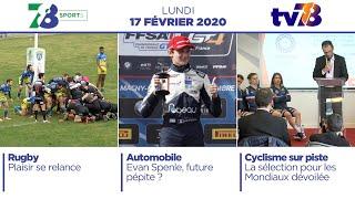 78 Sports. Emissions du lundi 17 février 2020