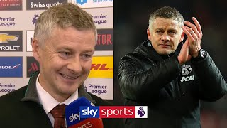 Ole Gunnar Solskjaer delighted with his side after Manchester derby win