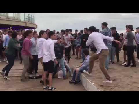 Violenta batalla campal frente a un boliche en Mar del Plata