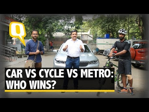 Fastest Commute: BMW 730LD vs Cycle vs Delhi Metro - The Quint