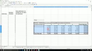 Tableau croisé - Analyse bivariée sous CALC