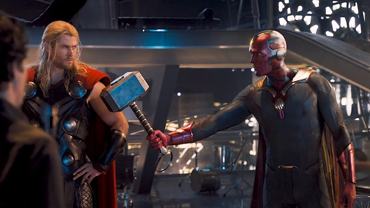Download Avengers Age of Ultron Ita - Visione solleva il Mjolnir