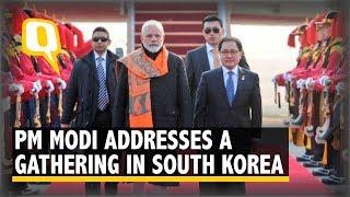 Live: PM Narendra  Modi Addresses a Gathering in Seoul, South Korea