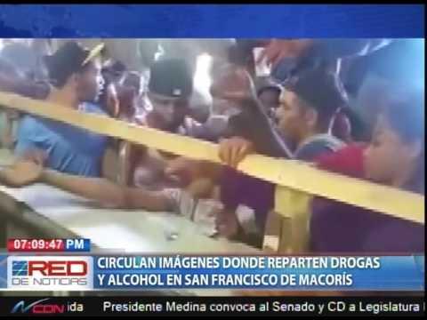 Circulan imágenes donde reparten drogas y alcohol en San Francisco de Macorís