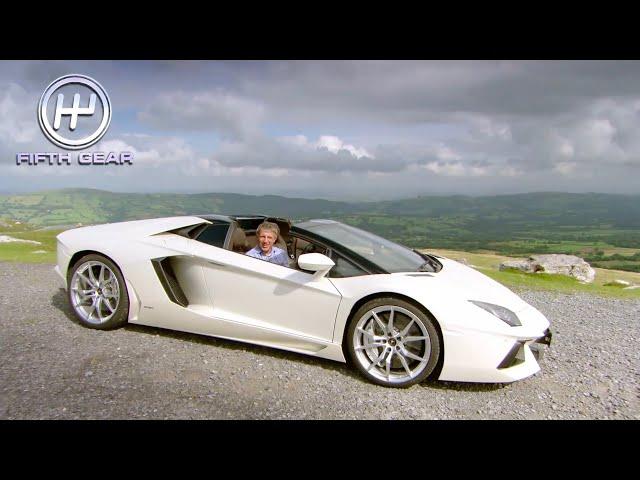Plato's Legendary Lamborghini Aventador Roadster First Drive | Fifth Gear