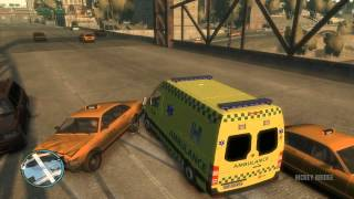 GTA IV - Danish Ambulance smash in slow motion
