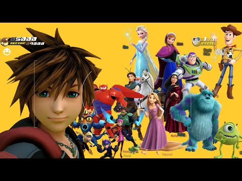 Kingdom Hearts 3 - All Characters Photos And Selfies In Disney Worlds