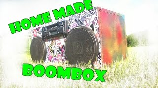 Homemade boombox - FM/AM car radio powered pc power supply