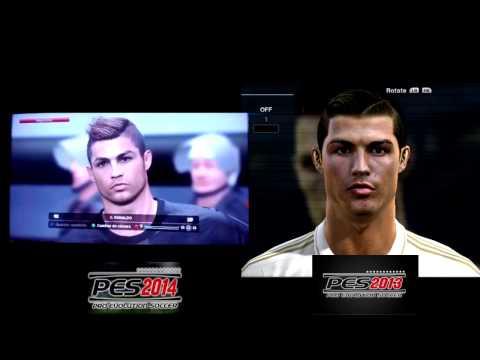 PES 2014 Vs PES 2013 - Face Comparison - Cristiano Ronaldo