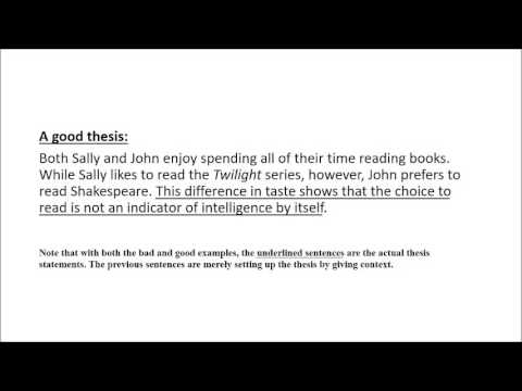 How to write a comparative thesis statement - YouTube