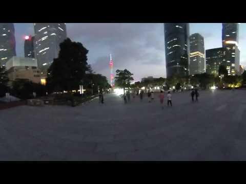 Вечерний Гуанчжоу Guangzhou, New Town, video 360 canton tower china travel путешествия в Китай
