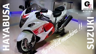 2018 Suzuki Hayabusa GSX1300R White Red actual look walkaround review