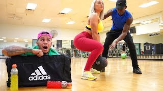 HIDING in my GIRLFRIENDS Gym Bag for 24 Hours... (caught her with personal trainer)