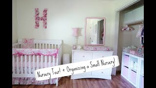 Shabby Chic Floral Nursery Tour! + Organizing a Small Nursery!