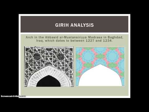 Geometric Patterns in Arabic Architecture