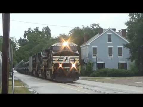 Busy CSX & NS Action w/ Street Running in Augusta, GA 6/20/15