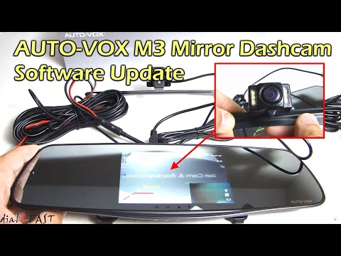 AUTO-VOX M3 Dashcam Mirror * SOFTWARE UPDATE*