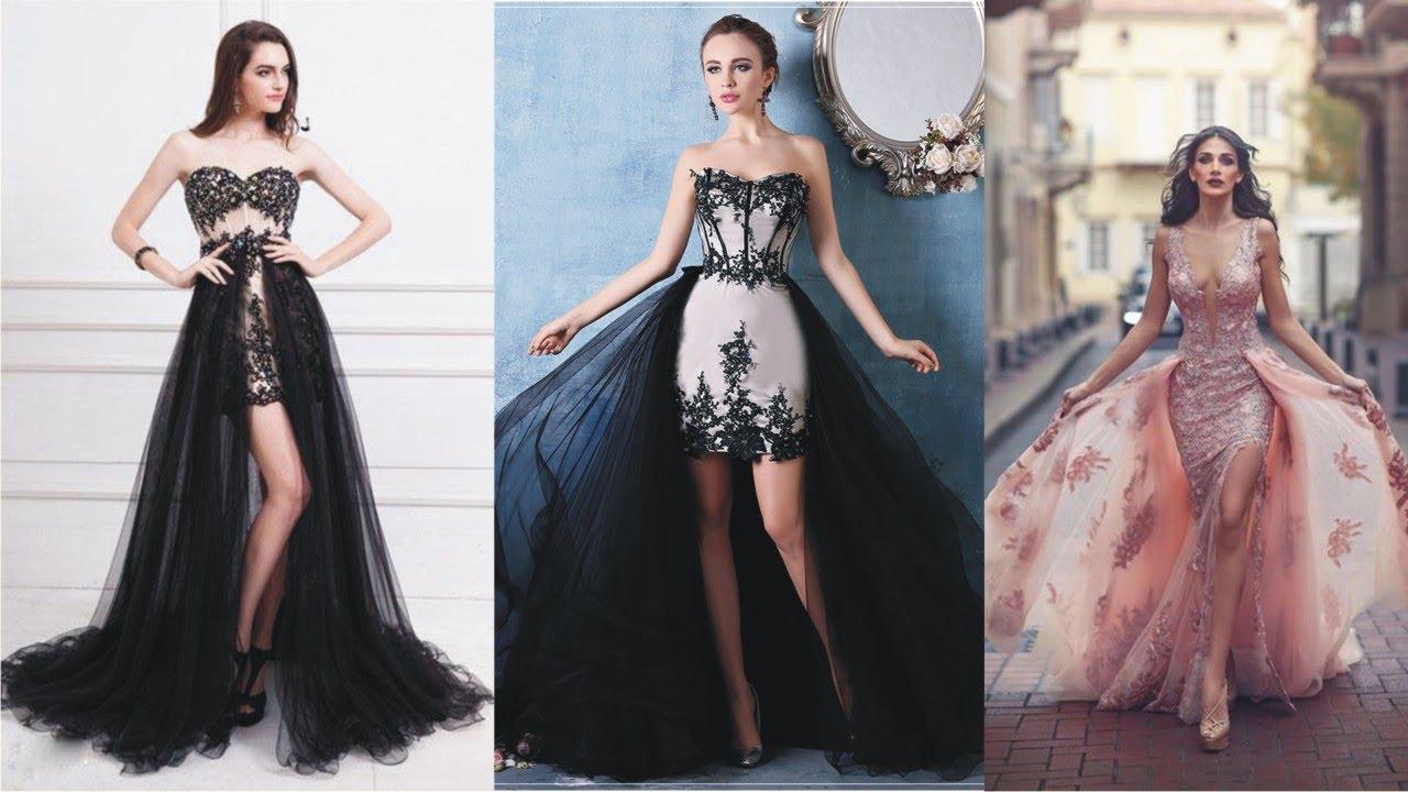 60beeca779 Stunning Detachable Skirt Prom Dress For Big Day - YouTube