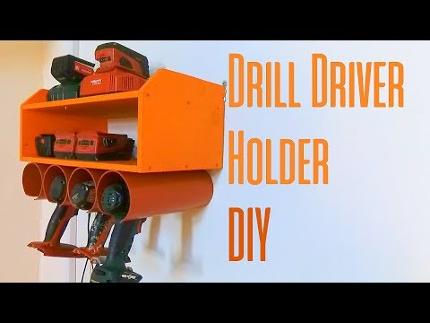 Drill Driver Holder Simple Project DIY