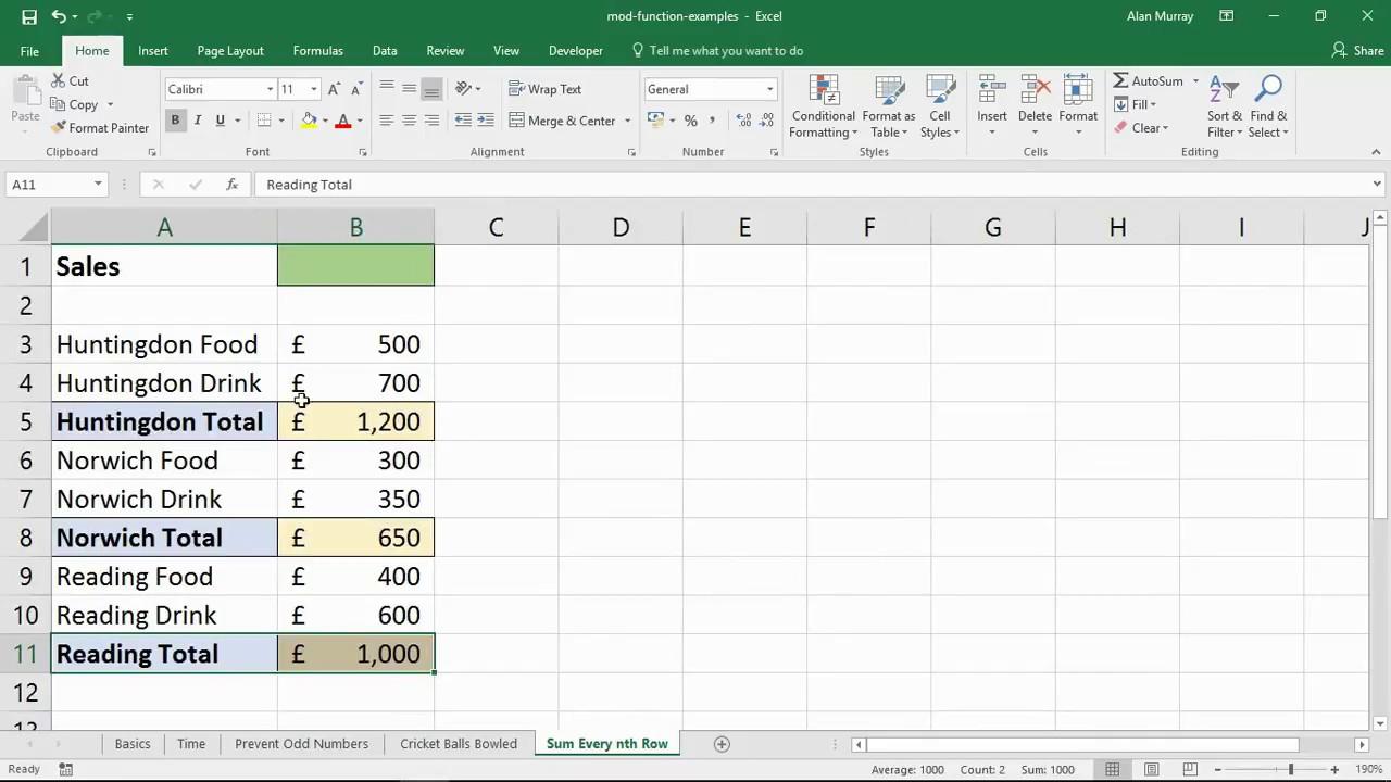 4 Excel MOD Function Examples - Computergaga Blog
