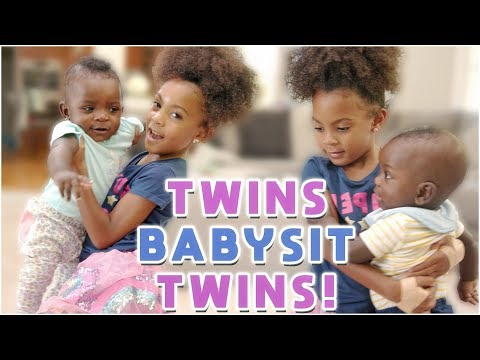 TWINS BABYSIT TWIN BABIES!