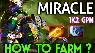 Miracle- Dota2 [Alchemist] How to Farm Like God @1k2 GPM